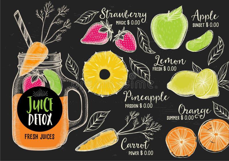 Restauracyjny cukierniany menu, szablonu projekt ilustracji