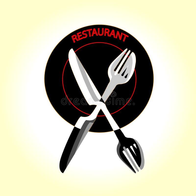 Restauracyjny graficznego projekta loga szablon, rocznik insygnia ilustracja wektor