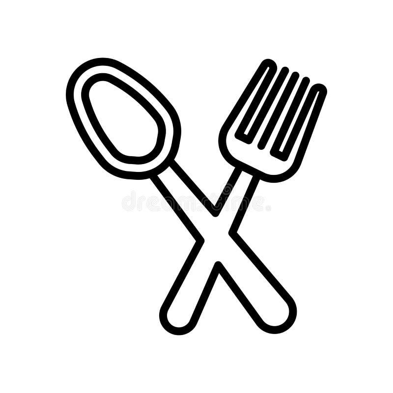 Restauracyjny ikona wektoru znak i symbol odizolowywający na białym backgro ilustracja wektor