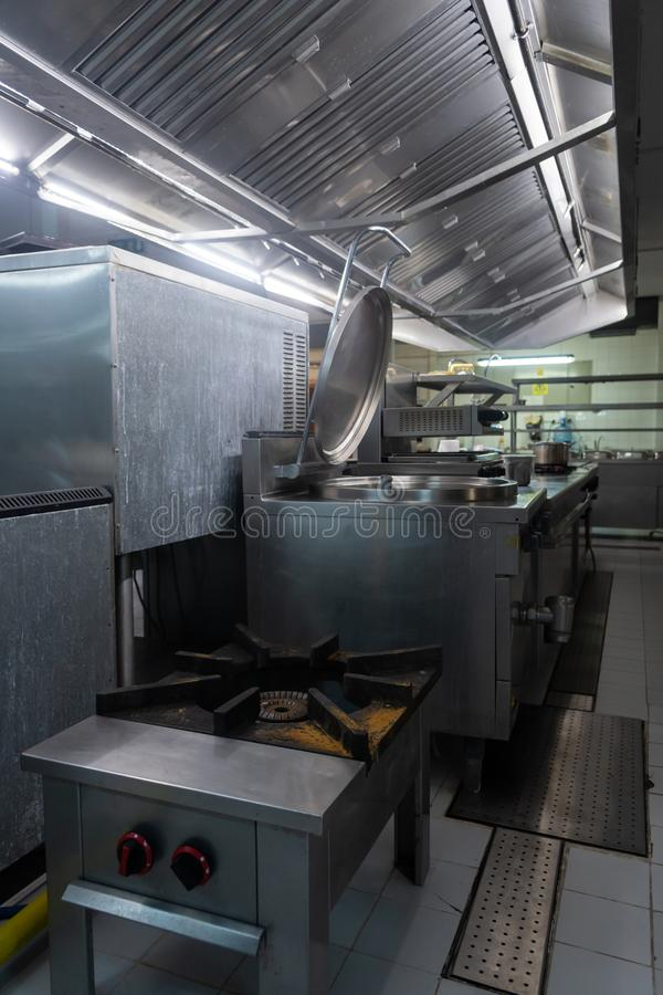 Restauracyjny kuchenny bardzo czysty zdjęcia royalty free