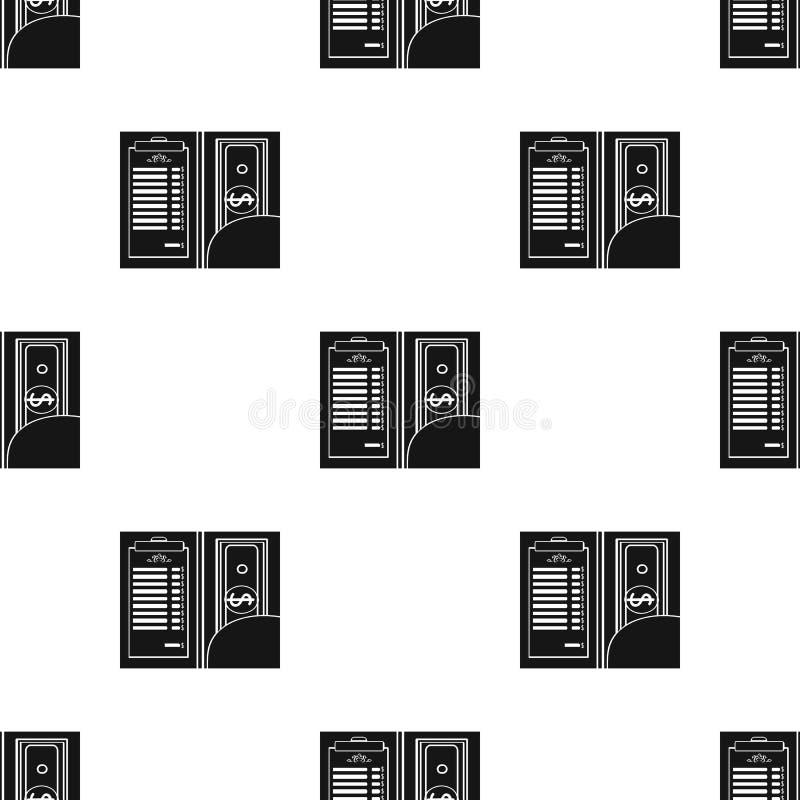 Restauracyjny kwit z gotówkową ikoną w czerń stylu odizolowywającym na białym tle royalty ilustracja