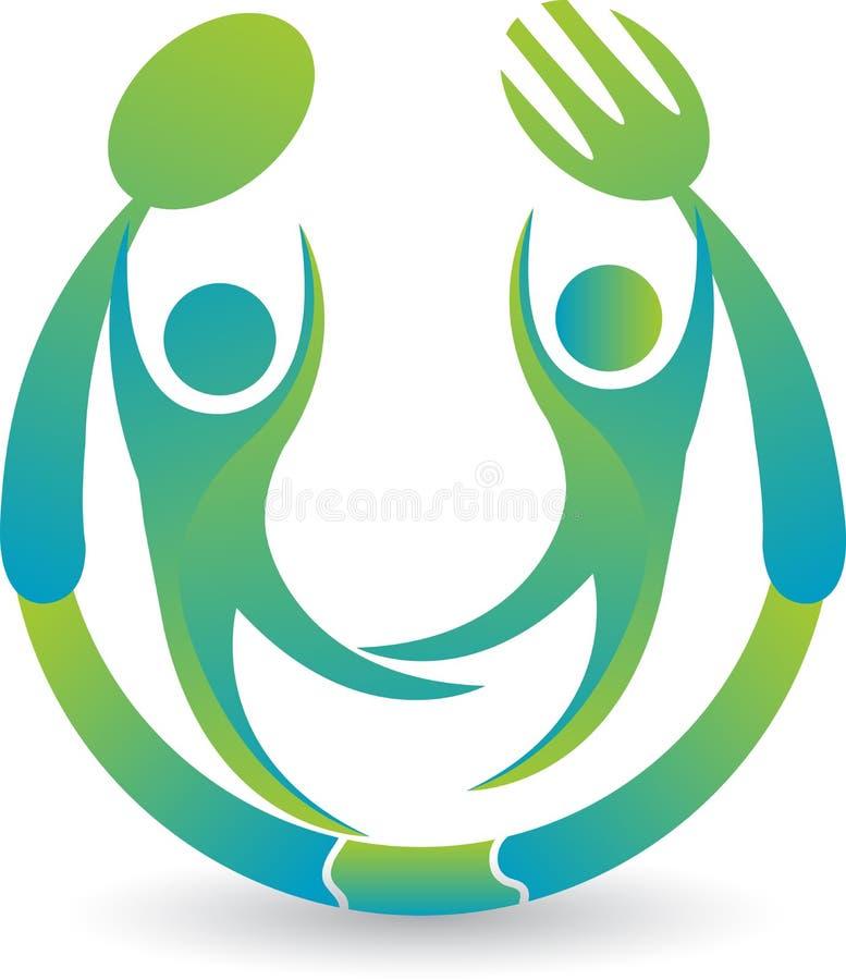 Restauracyjny logo ilustracji