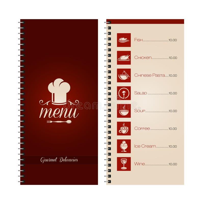 Restauracyjny lub cukierniany menu royalty ilustracja