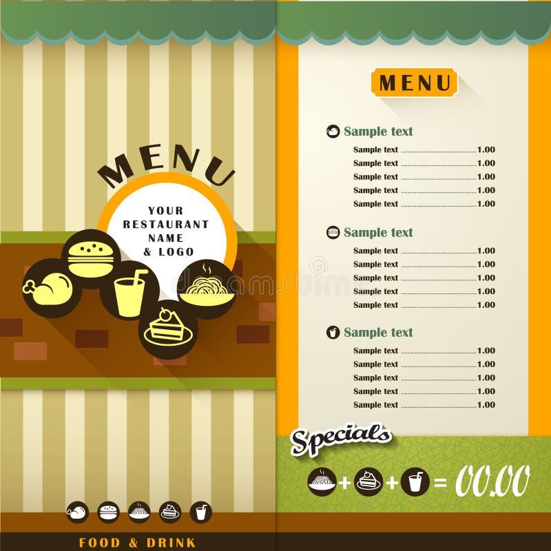 Restauracyjny menu ilustracji