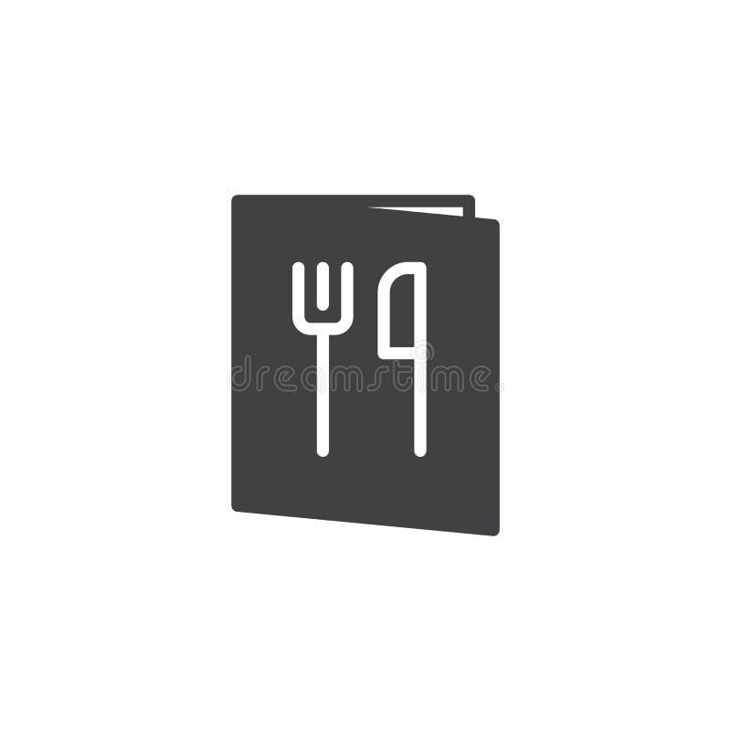 Restauracyjny menu książki ikony wektor ilustracji