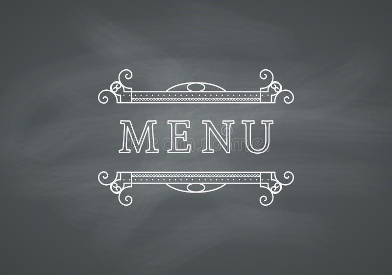 Restauracyjny menu nagłówek z Chalkboard royalty ilustracja