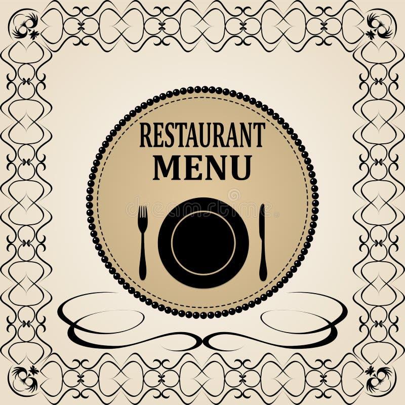 Restauracyjny menu projekt royalty ilustracja