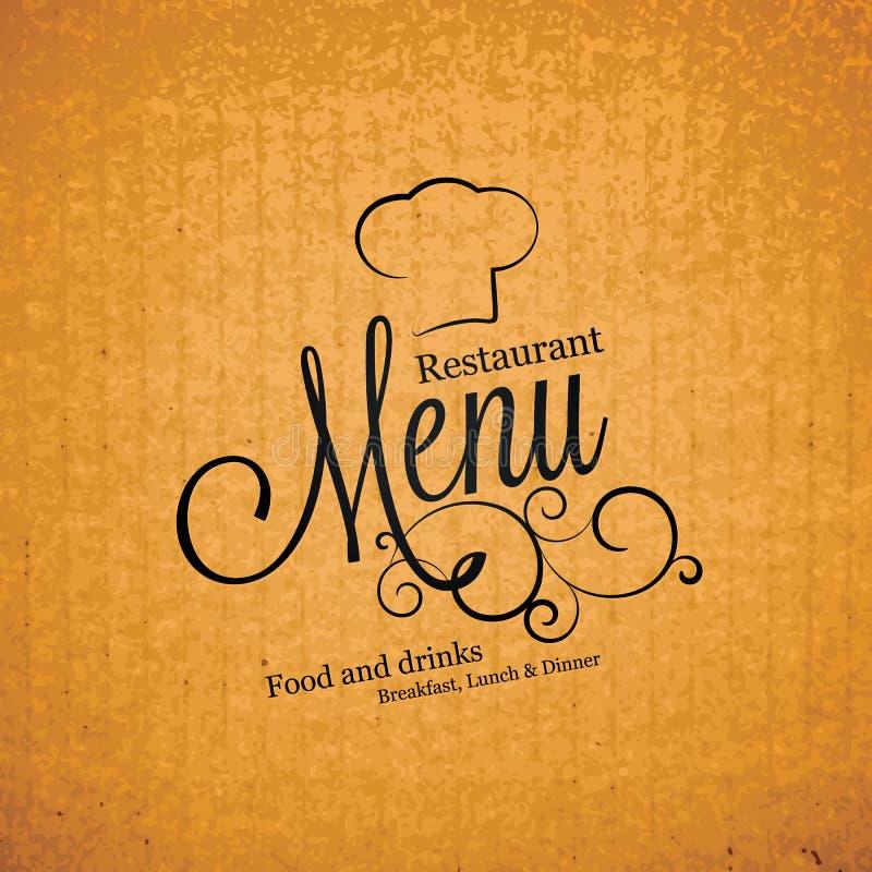 Restauracyjny menu projekt ilustracji