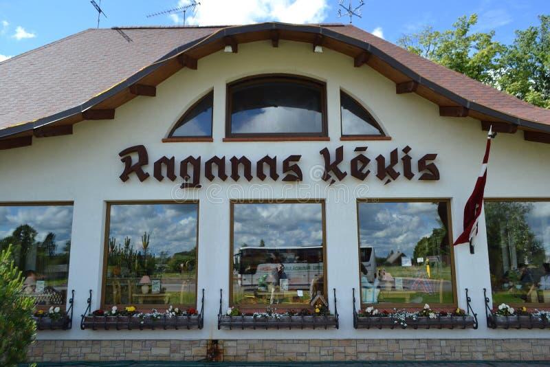 Restauracyjny Raganas Kekis, Latvia. zdjęcie stock