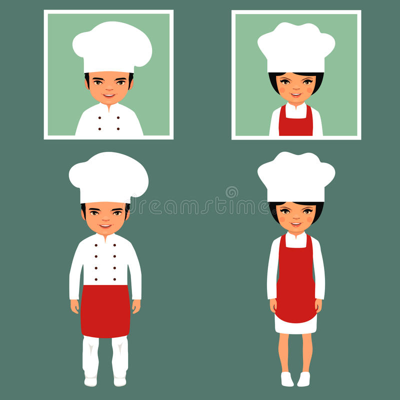 Restauracyjny szef kuchni royalty ilustracja