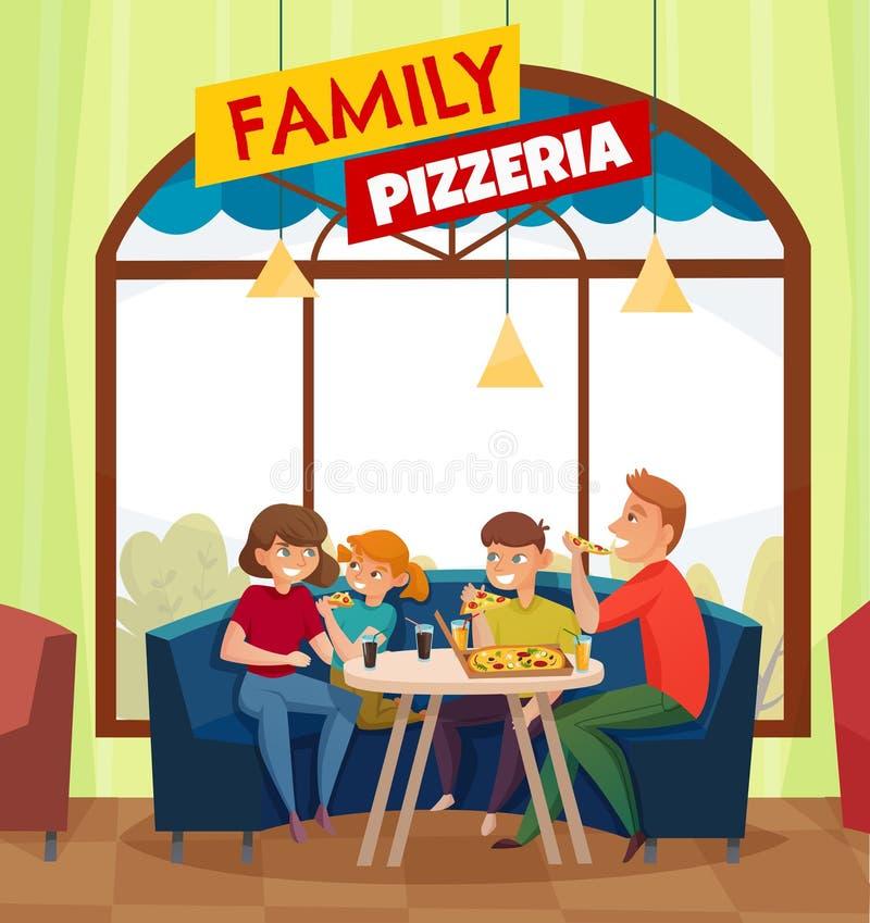 Restauracyjnych Karczemnych gości Barwiony skład ilustracji