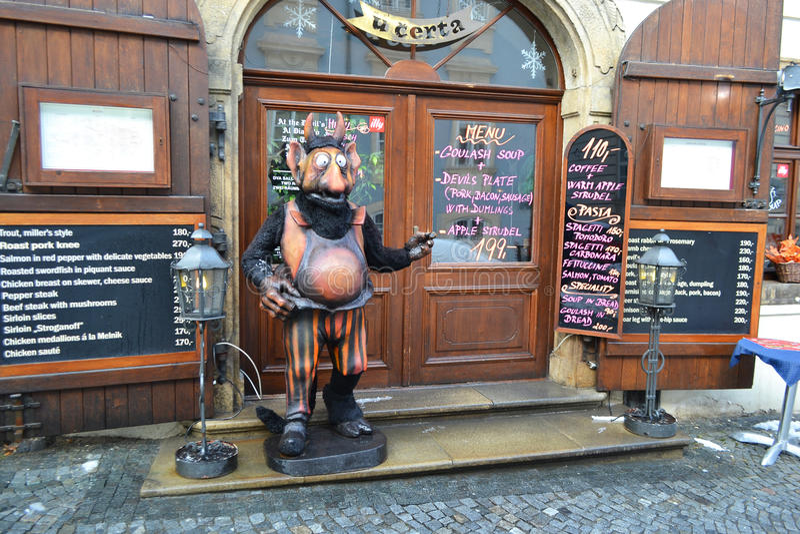 Restauran在布拉格 库存照片