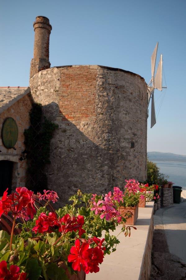 restaurang för croatia dalmationöar arkivfoto