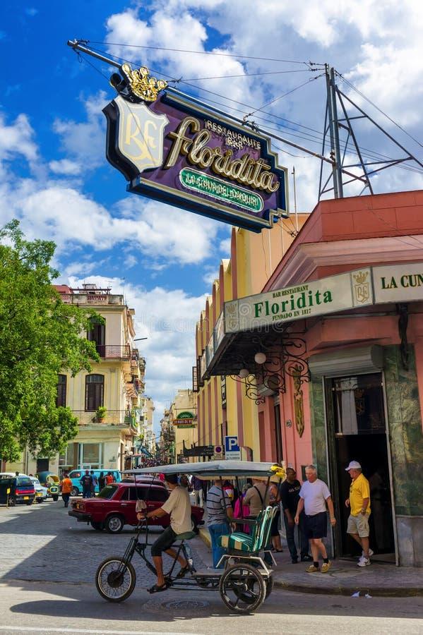 Restaurang för El Floridita i Havana royaltyfri bild