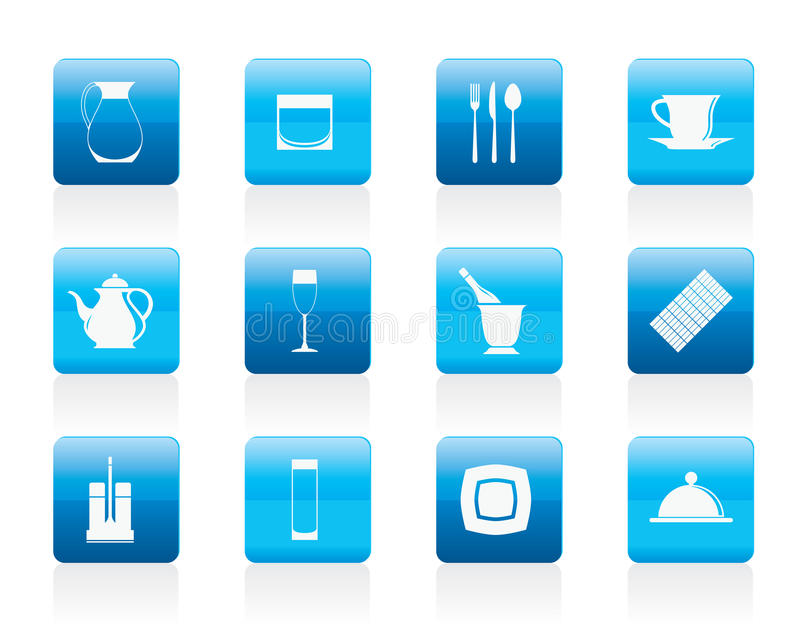 restaurang för natt för symboler för stångcafeklubba royaltyfri illustrationer
