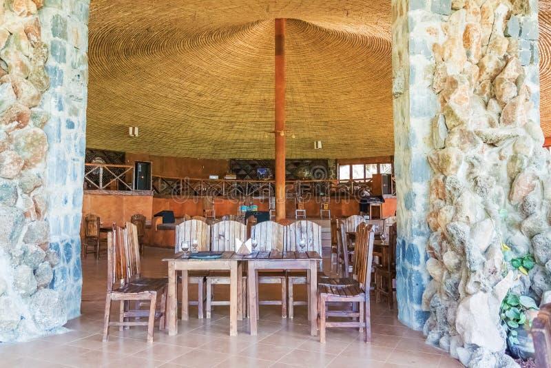 Restaurang i Bahir Dar arkivbilder