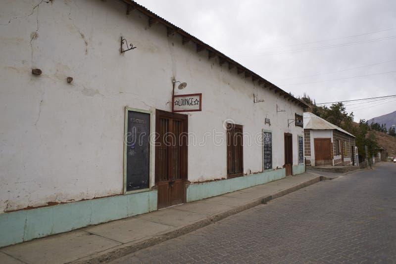 Restaurang i den Elqui dalen royaltyfria bilder