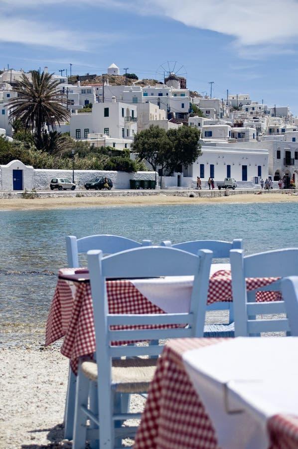 Restaurang i Grekland royaltyfri bild
