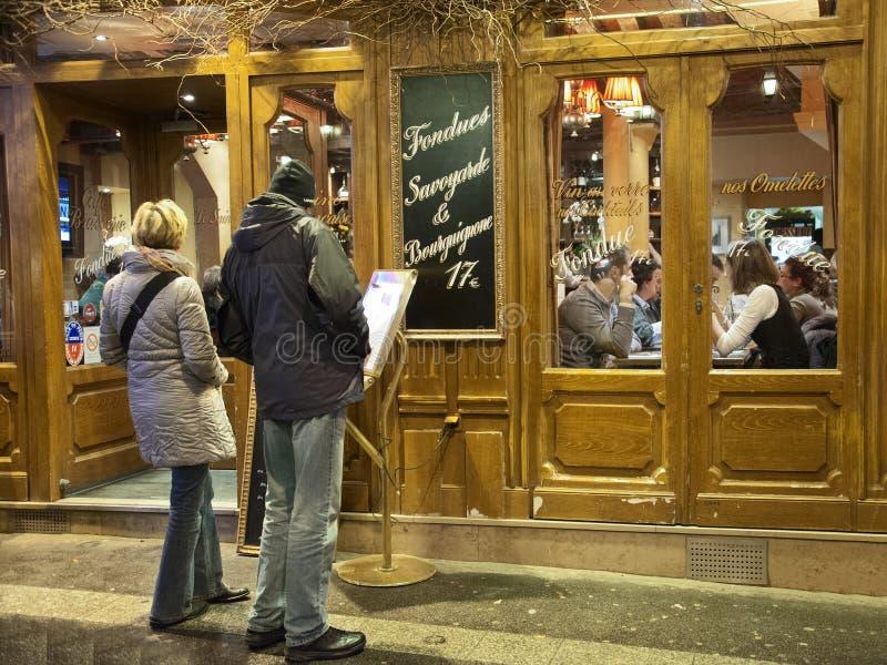 Restaurang i Paris arkivfoton