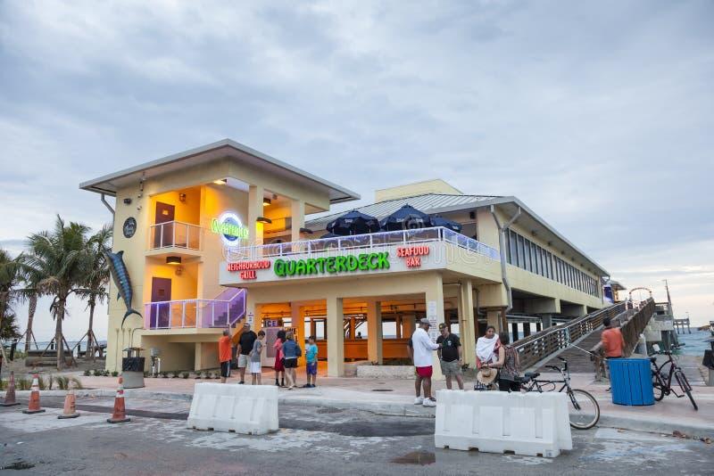 Restaurang på Dania Beach, Florida royaltyfri foto