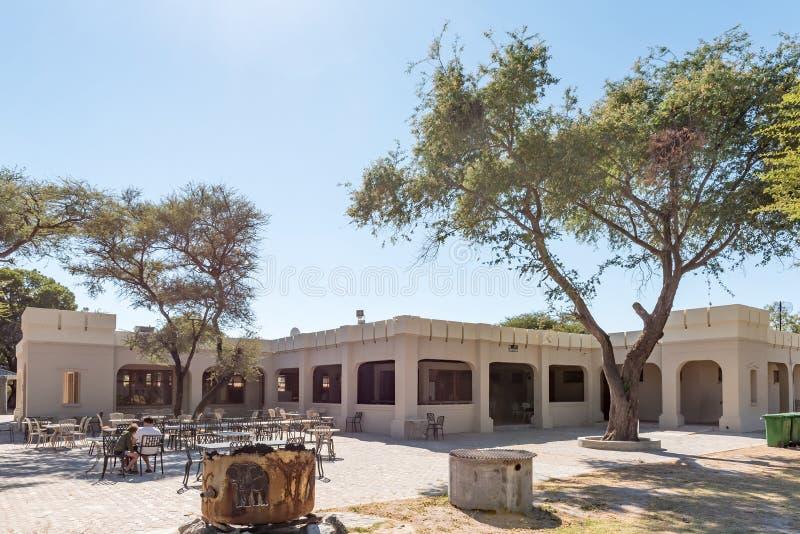 Restaurangen i Namutonien vilar lägret royaltyfri fotografi