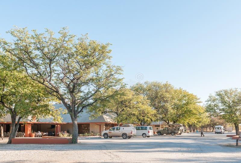 Restaurangen och kontor på Halalien vilar lägret royaltyfri foto