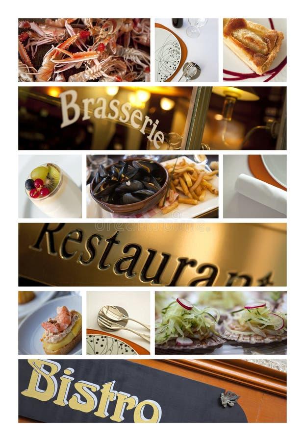Restauranger och bistros arkivfoto