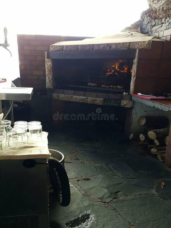 Restauranggrillfest i Artenara, Gran Canaria kanariefågelöar royaltyfria foton