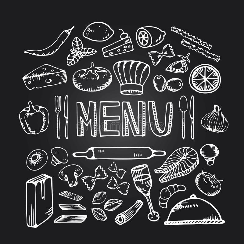 Restaurangkafémeny vektor illustrationer