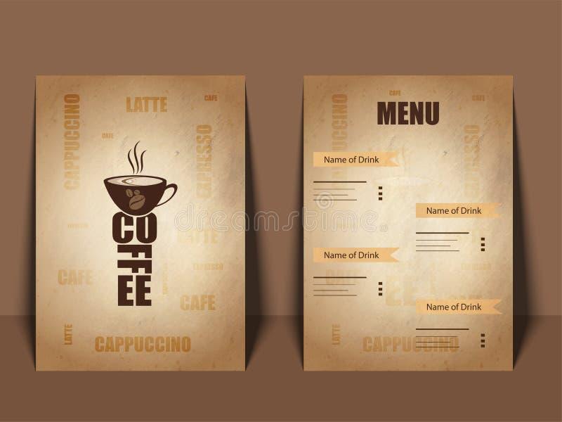 Restaurangkafémeny, mall Matreklambladdesign vektor illustrationer