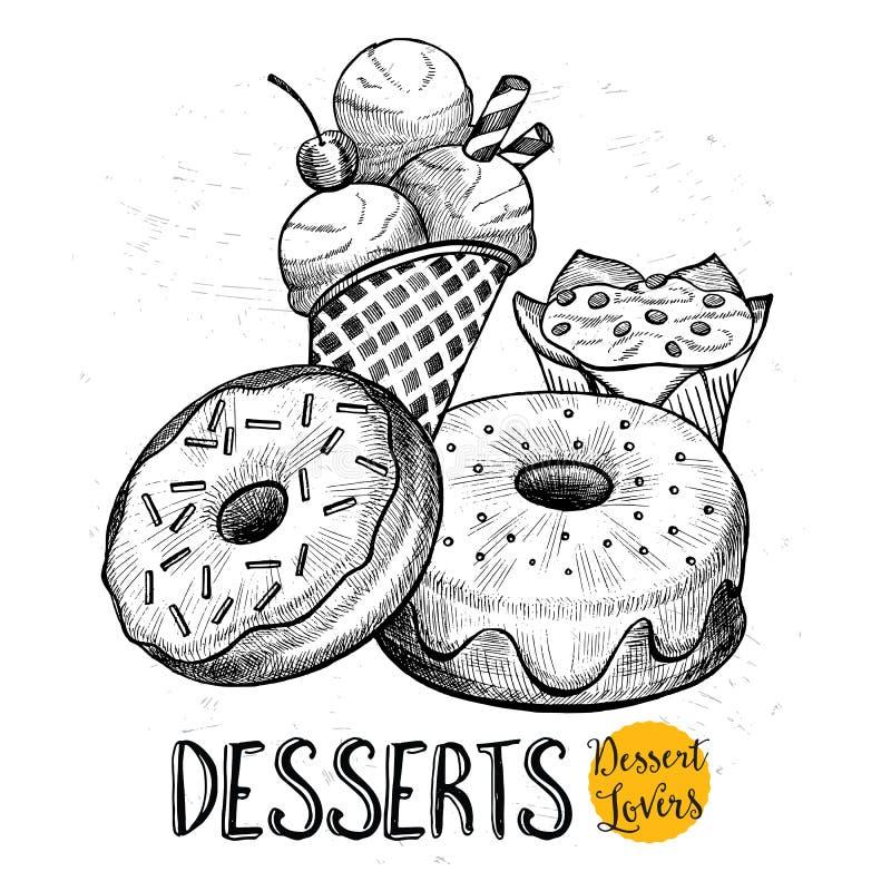 Restaurangkafémeny, malldesign stock illustrationer