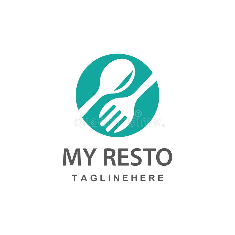 Restauranglogovektor vektor illustrationer