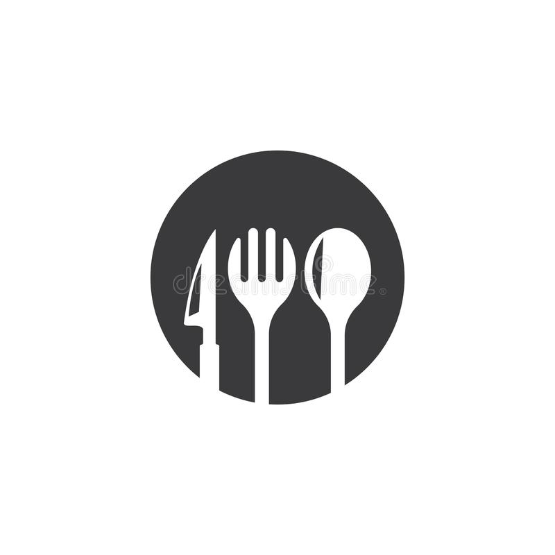 Restauranglogovektor royaltyfri illustrationer