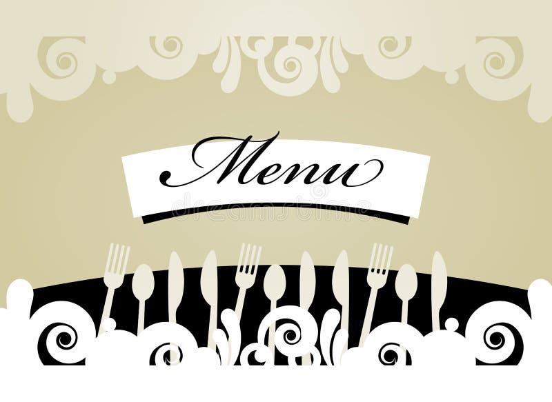 Restaurangmenykort royaltyfri illustrationer