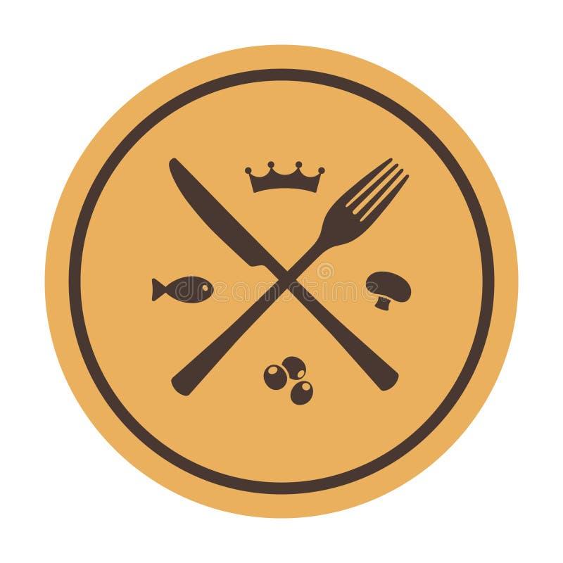 Download Restaurangsymbol. Korsad Gaffel Och Kniv Vektor Illustrationer - Illustration av platta, äta: 37346165