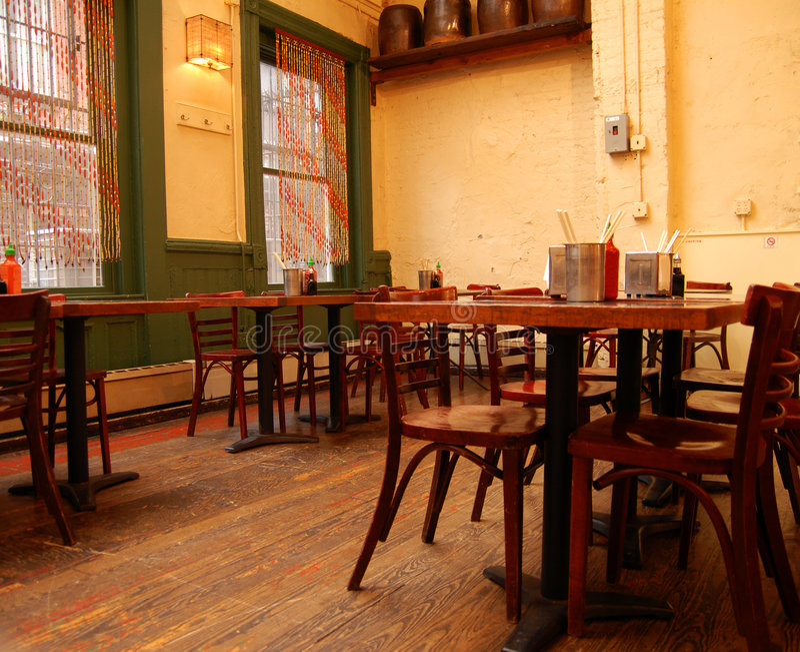 Restaurant à la mode de Soho dans NYC photos libres de droits