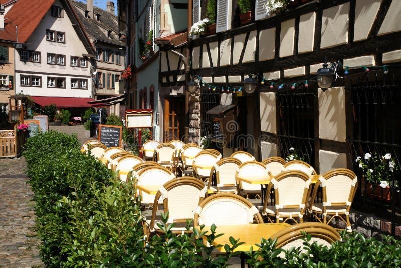 Restaurant à Strasbourg images libres de droits