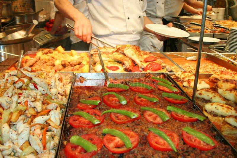 At restaurant stock image