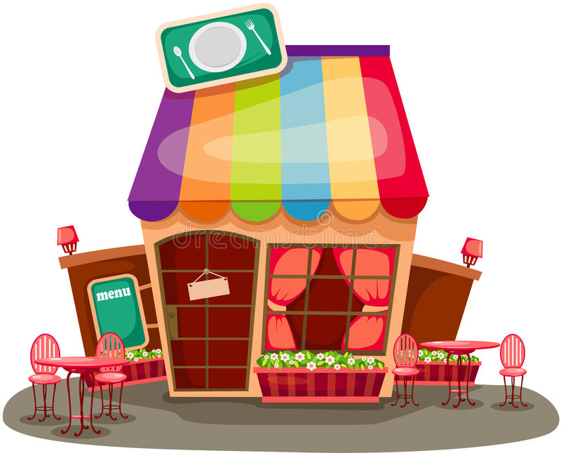 Restaurant vector illustration
