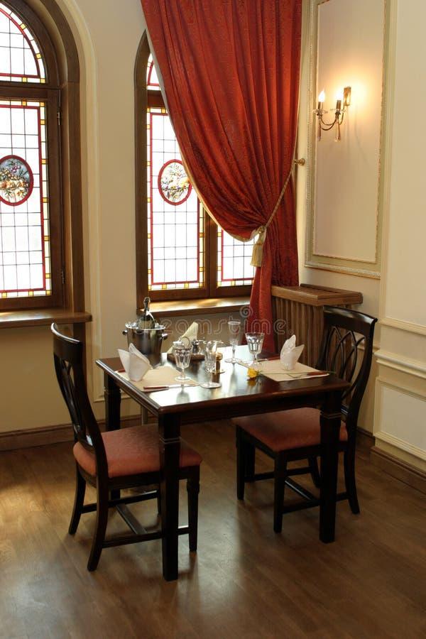 Restaurant. Elegant corner of luxury restaurant royalty free stock image