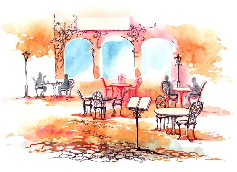 Restaurant illustration de vecteur