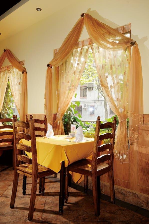 Restaurant. An India restaurant,quiet and nobody stock photos