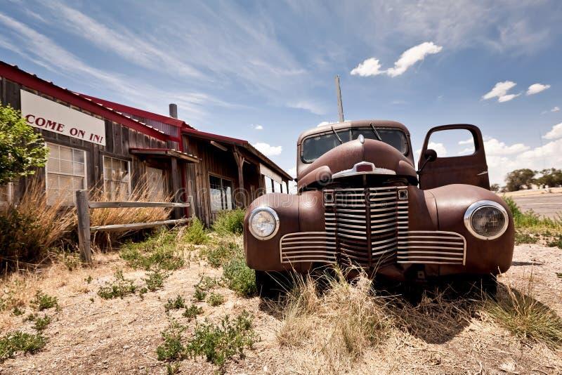 Restaurant abandonné sur l'artère 66 photo libre de droits