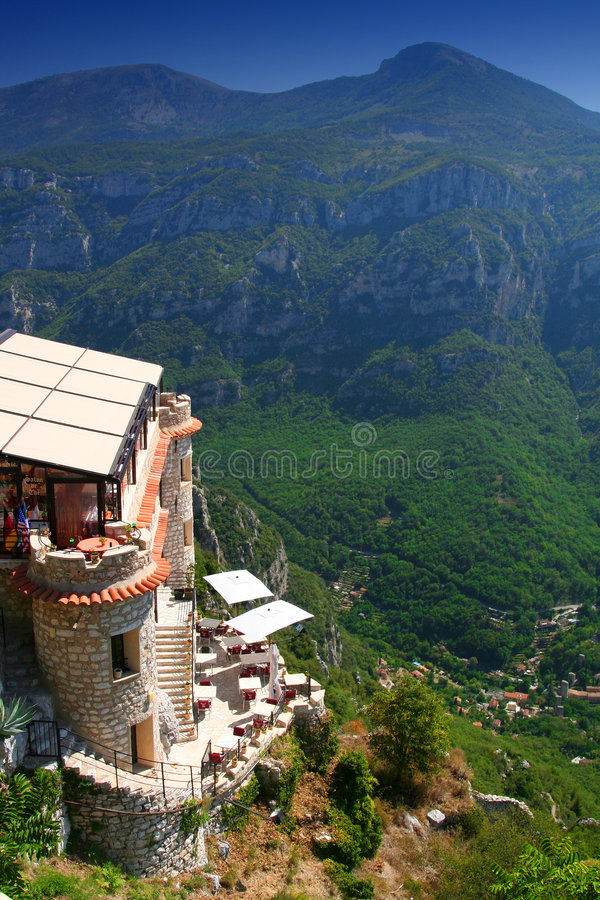 Restaurant in Alpes Maritimes royalty free stock photography