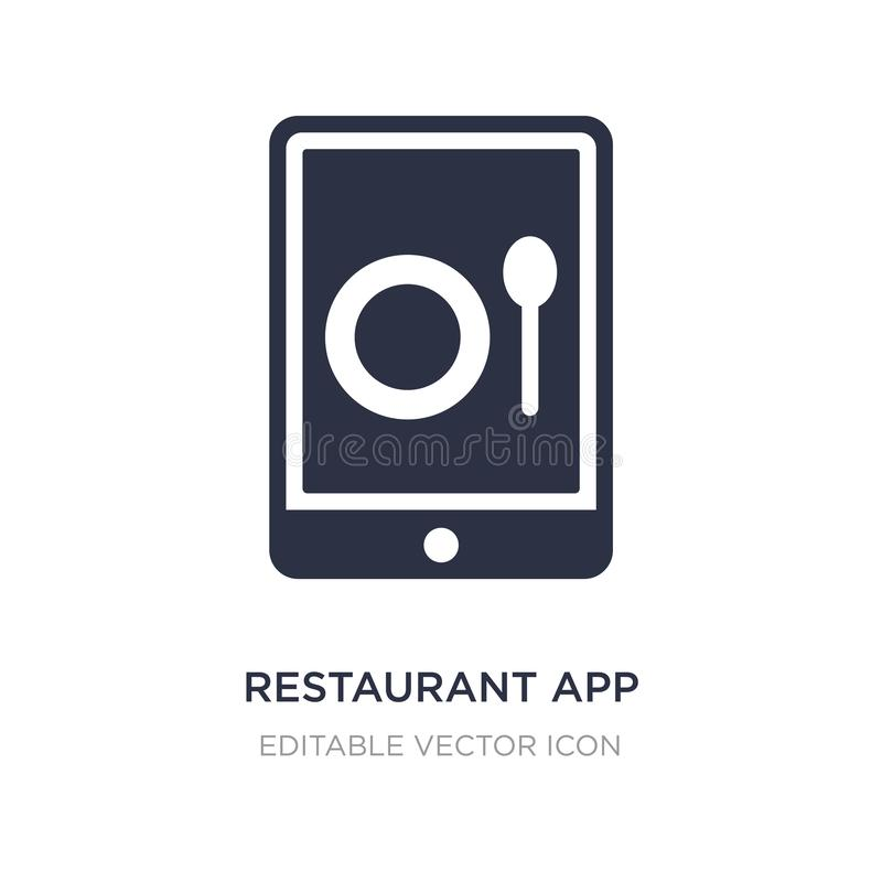 Restaurant app icon on white background. Simple element illustration from Computer concept. Restaurant app icon symbol design vector illustration