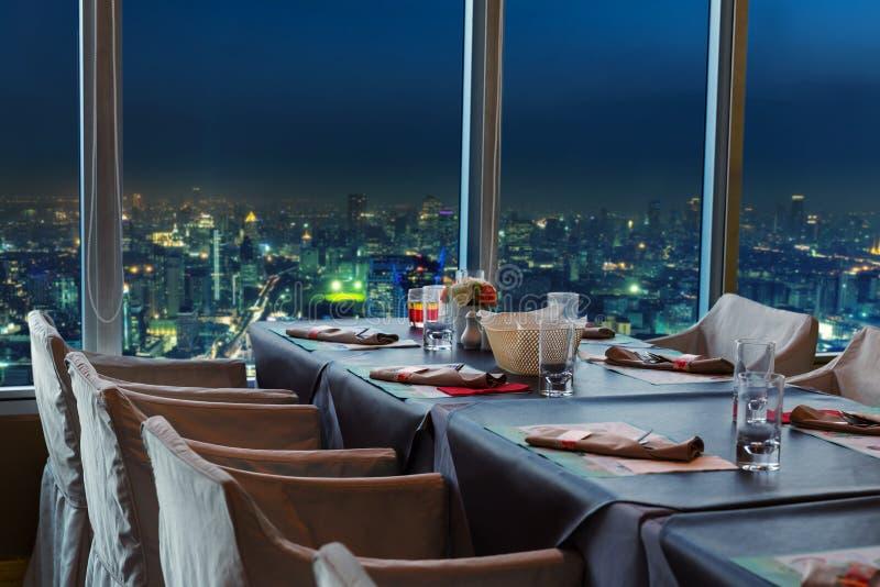 Restaurant in Bangkok at night royalty free stock images