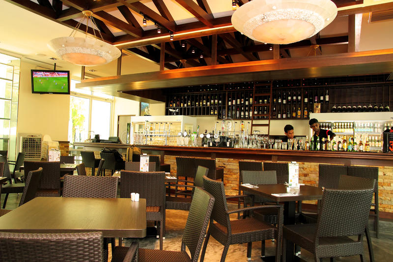 Restaurant bar bistro editorial image