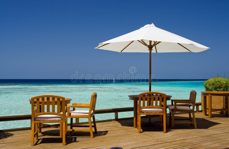 Download Restaurant at Baros stock image. Image of beach, coast - 5430591