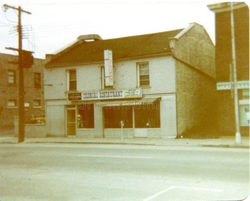 Restaurant, Belleville vers 1970 photos libres de droits