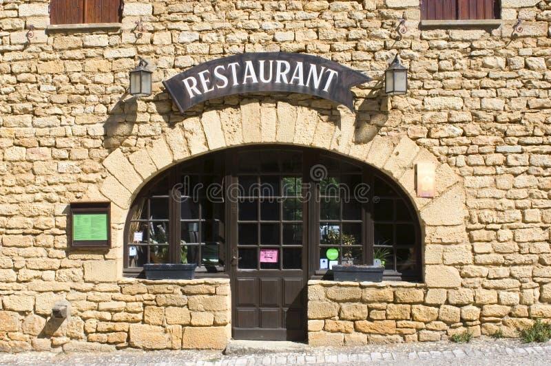 Restaurant Beynac royalty-vrije stock foto